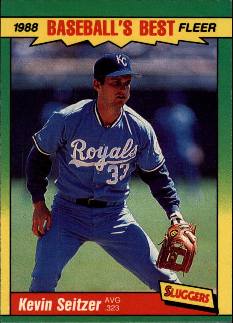 1988 Fleer Sluggers/Pitchers Baseball Cards    038      Kevin Seitzer