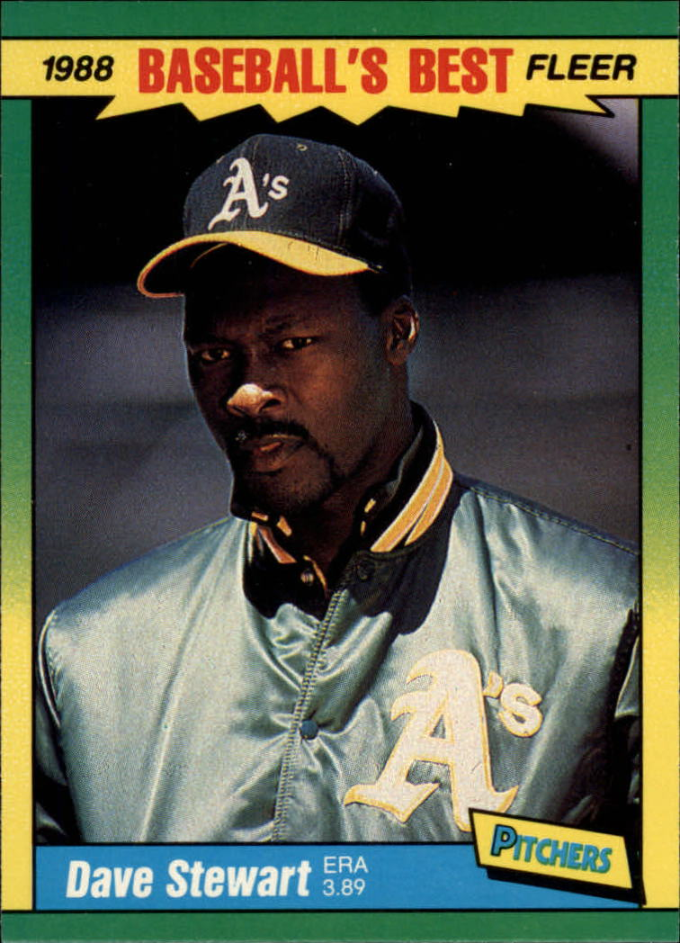 1988 Fleer Sluggers/Pitchers Baseball Cards    039      Dave Stewart
