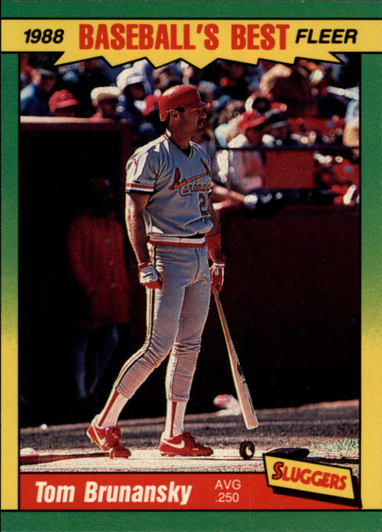 1988 Fleer Sluggers/Pitchers Baseball Cards    004      Tom Brunansky