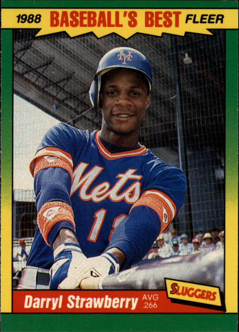 1988 Fleer Sluggers/Pitchers Baseball Cards    040      Darryl Strawberry