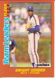 1988 Fleer Team Leaders Baseball Cards 010      Dwight Gooden