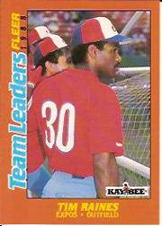 1988 Fleer Team Leaders Baseball Cards 027      Tim Raines
