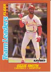 1988 Fleer Team Leaders Baseball Cards 038      Ozzie Smith