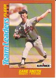 1988 Fleer Team Leaders Baseball Cards 039      Zane Smith