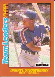 1988 Fleer Team Leaders Baseball Cards 040      Darryl Strawberry