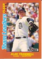 1988 Fleer Team Leaders Baseball Cards 043      Alan Trammell