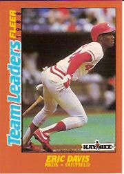 1988 Fleer Team Leaders Baseball Cards 006      Eric Davis