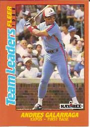 1988 Fleer Team Leaders Baseball Cards 009      Andres Galarraga