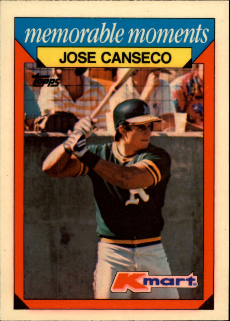 1988 K-Mart Baseball Cards     004      Jose Canseco