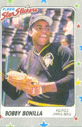 1988 Fleer Sticker Baseball Cards