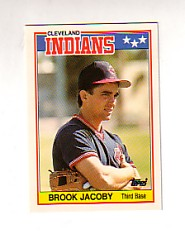 1988 Topps UK Minis Tiffany     038      Brook Jacoby