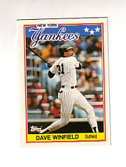 1988 Topps UK Minis Tiffany     085      Dave Winfield