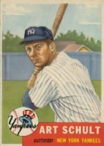 1953 Topps      167     Art Schult RC