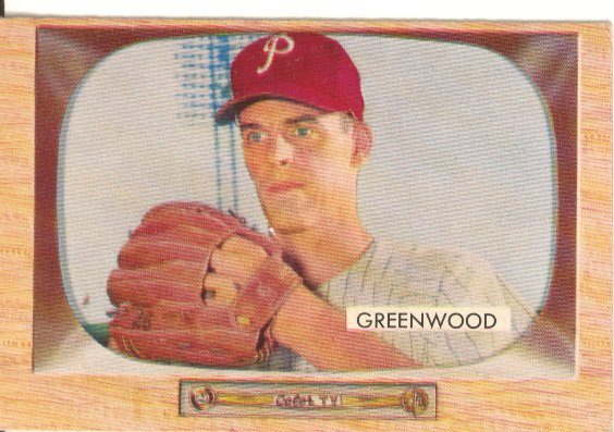 1955 Bowman     042      Bob Greenwood RC