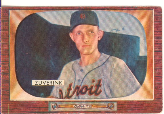 1955 Bowman     092      George Zuverink