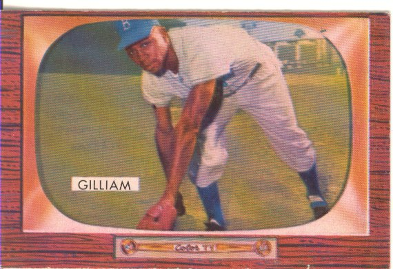 1955 Bowman     098      Jim Gilliam