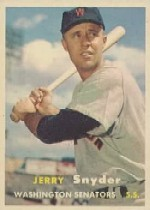 1957 Topps      022      Jerry Snyder UER
