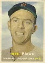 1957 Topps      169     Herb Plews RC