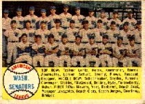 1958 Topps      044      Washington Senators TC