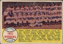 1958 Topps      071      Los Angeles Dodgers TC