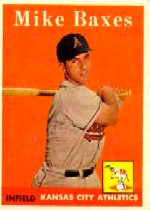 1958 Topps      302     Mike Baxes RC