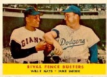 1958 Topps      436     Willie Mays/Duke Snider