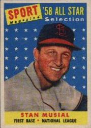 1958 Topps      476     Stan Musial AS TP