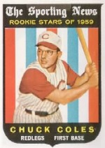 1959 Topps Baseball Cards      120     Chuck Coles RS RC
