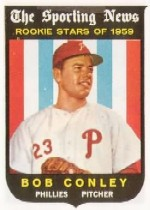 1959 Topps Baseball Cards      121     Bob Conley RS RC