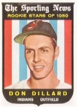 1959 Topps Baseball Cards      123     Don Dillard RS RC