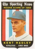 1959 Topps Baseball Cards      127     Kent Hadley RS RC
