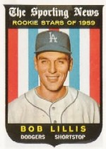 1959 Topps Baseball Cards      133     Bob Lillis RS RC