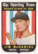 1959 Topps Baseball Cards      134     Jim McDaniel RS RC