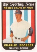 1959 Topps Baseball Cards      140     Charlie Secrest RS RC