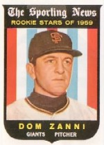 1959 Topps Baseball Cards      145     Dom Zanni RS RC