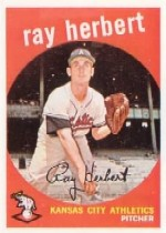 1959 Topps Baseball Cards      154     Ray Herbert