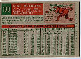 1959 Topps Baseball Cards      170     Gene Woodling