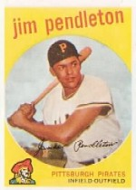 1959 Topps Baseball Cards      174     Jim Pendleton