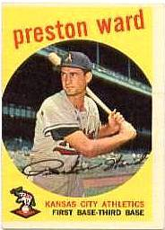 1959 Topps Baseball Cards      176     Preston Ward