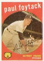 1959 Topps Baseball Cards      233     Paul Foytack WB