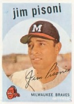 1959 Topps Baseball Cards      259A    Jim Pisoni GB