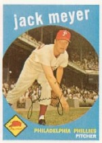 1959 Topps Baseball Cards      269     Jack Meyer WB