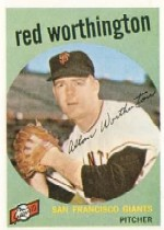 1959 Topps Baseball Cards      028      Al Worthington
