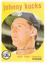 1959 Topps Baseball Cards      289     Johnny Kucks