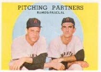 1959 Topps Baseball Cards      291     Pitching Partners-Pedro Ramos-Camilo Pascual