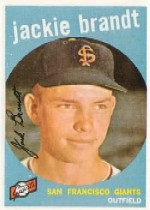 1959 Topps Baseball Cards      297     Jackie Brandt RC