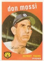 1959 Topps Baseball Cards      302     Don Mossi