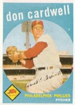 1959 Topps Baseball Cards      314     Don Cardwell