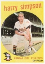 1959 Topps Baseball Cards      333     Harry Simpson