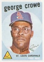 1959 Topps Baseball Cards      337     George Crowe